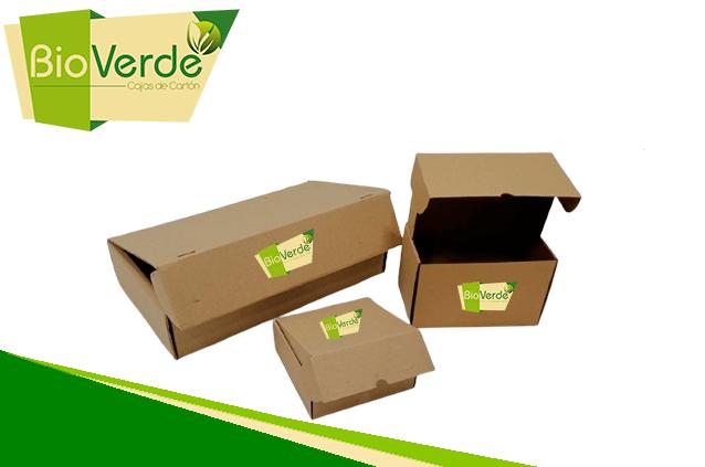 Caja de cartón personalizada BioVerde
