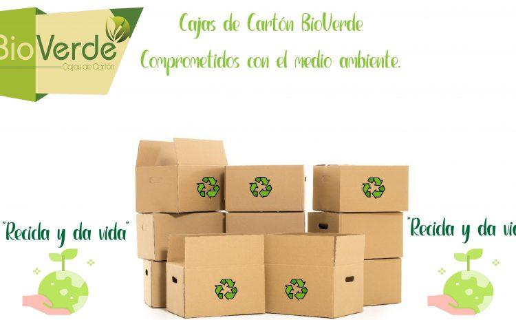 Reciclaje de cajas de cartón